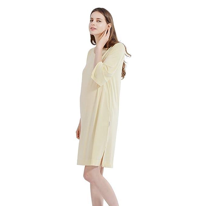 i-baby Pijamas Mujer Vestido Camisón Embarazada de Verano para Premamá Maternidad Ropa Interior Mujer