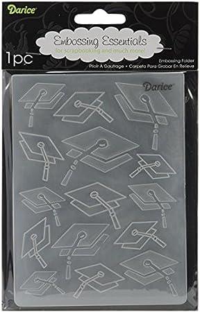 Darice DIY Crafts Supplies Embossing Folders for Card Making Graduation 4.5 x 5.75 1218-48 Bundle with 1 Artsiga Crafts Small Bag