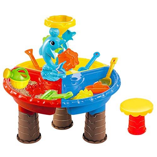 LoKauf 22Pcs Table Eau Sable Bac a Sable Enfant Jouets de Plage Sand Pit Set - Coloris Aléatoire