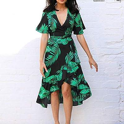 XGDLYQ Vestido Mujer Playa Rayas Playa Verano Vestidos Casual Vestido Manga Larga con Bolsillos Mujeres Vestido con Cuello o Cuello Mujer XL: Amazon.es: Deportes y aire libre