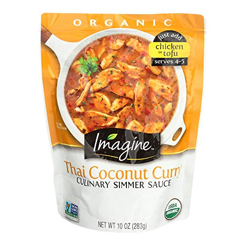 Coconut Organic Sauce - Imagine Culinary Organic Simmer Sauce, Thai Coconut Curry, 10 oz. (Pack of 6)