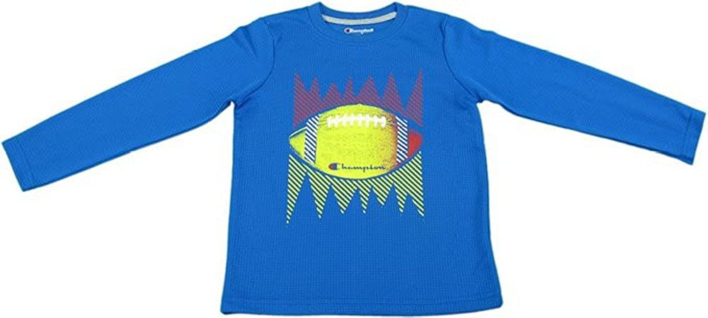 Champion Authentic Boys 10//12 Football Long Sleeve Shirt Team Blue /…