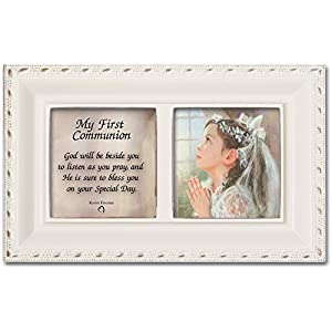 Cottage Garden First Communion God Beside You Matte Pink Jewelry Music Box Plays Jesus Loves Me