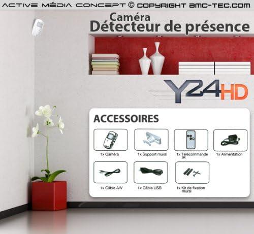 Detector de presencia cámara HD 720P: Amazon.es: Bricolaje y herramientas