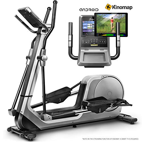Sportstech Premium Cross Trainer for Home Use | Quality German Brand | Video Events & Multiplayer-App & Android-Console | Home Elliptical Trainer LCX800 | 12 Programmes & HRC-Mode | 24Kg Flywheel Mass