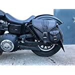 ORLETANOS Glasses Case Black Compatible with Belt Bag Leather Additional Bag Saddle Bag Frame Small Bag Orletanos Black Belt Bag Harley Davidson HD Sportster Fatboy Softail Bicycle