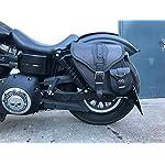 Dynamite-Black-Saddle-Bag-Harley-Davidson-Dyna-Glide-Street-Bob-Model-1996-2017-Leather-Orletanos-Sportster-Side-Pocket-Tool-Bag-Side-Case-Saddle-Bag-HD-Left-Side