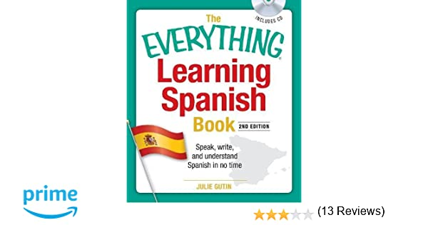 Amazon.com: The Everything Learning Spanish Book with CD: Speak ...