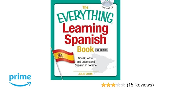 Amazon com: The Everything Learning Spanish Book with CD