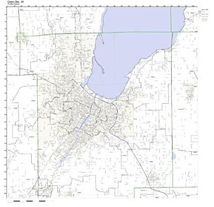 Green Bay Wi Zip Code Map.Amazon Com Green Bay Wi Zip Code Map Not Laminated Home Kitchen