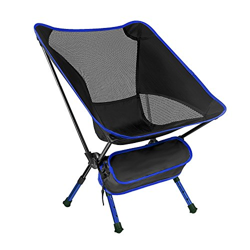 FAMLOVE Outdoor Folding Camping Chairs Lightweight Heavy Duty with Carry Bag Backpacking Camp Chair for Fishing Travel BBQ Picnic with 3 Step Adjustable Height 600D 600D Supports 300lb