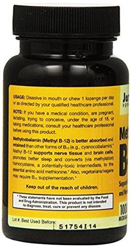 Jarrow Formulas Methyl B-12 - Lemon 100 Loznges (3 Pack)