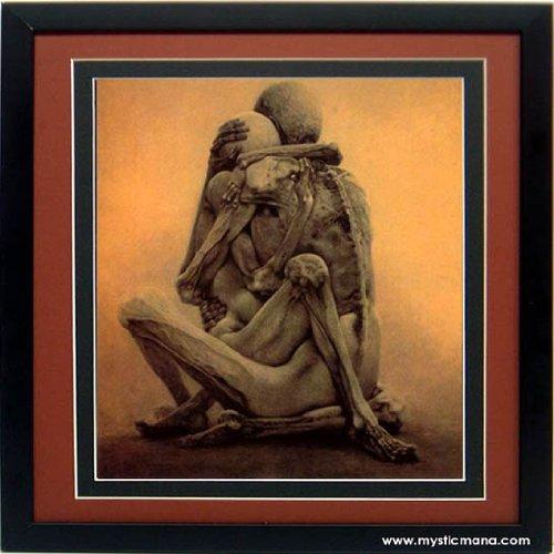 Beksinski Art Poster Lovers Framed