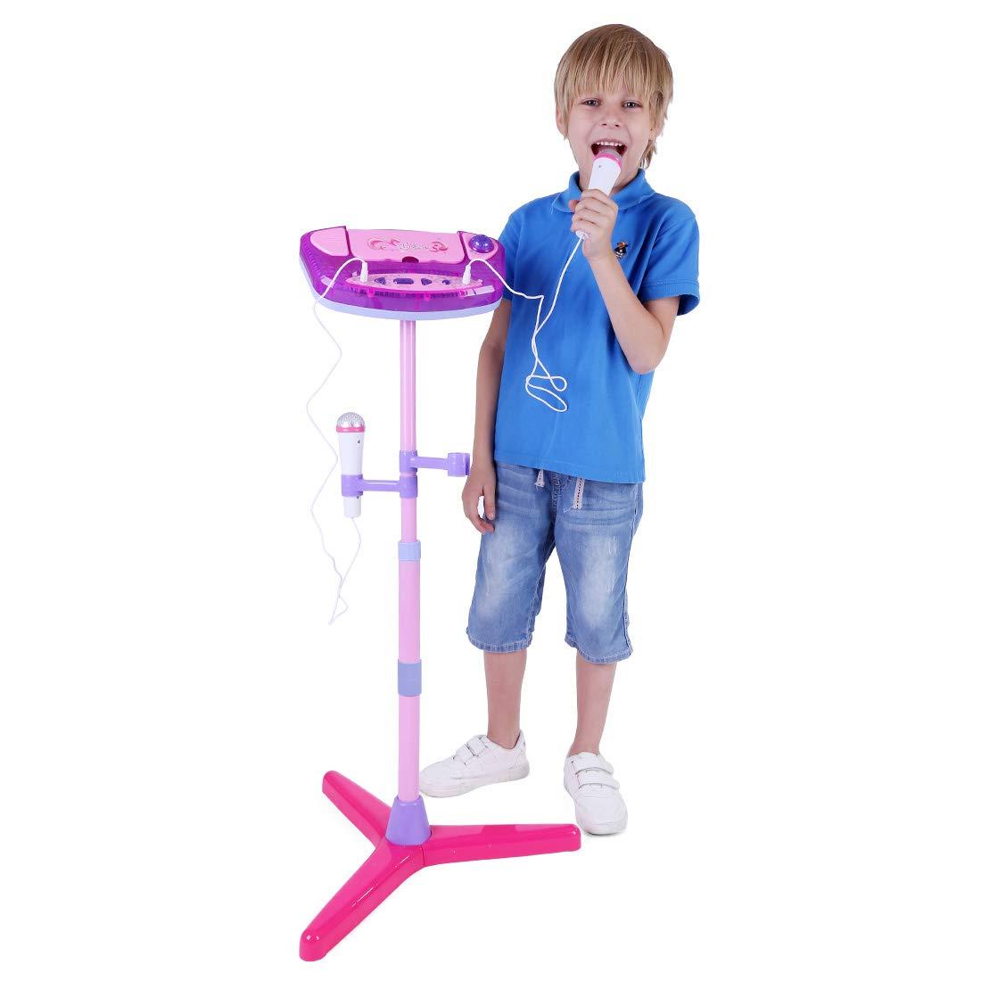 Ni/ños 3 4 5 6 7 8 a/ños Regalos de Reyes Regalos de cumplea/ños Koyae Karaoke Infantil con 2 Microfono