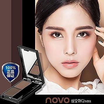 Amazon.com : 2 Color Eyebrow Powder Eye Shadow Palette With ...