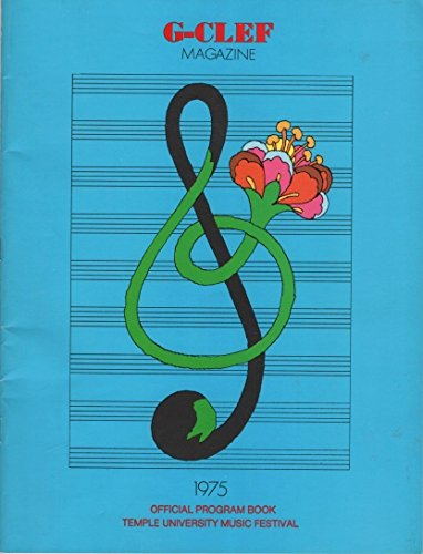 G-Clef Magazine: 1975 Official Program Book, Temple University Music Festival