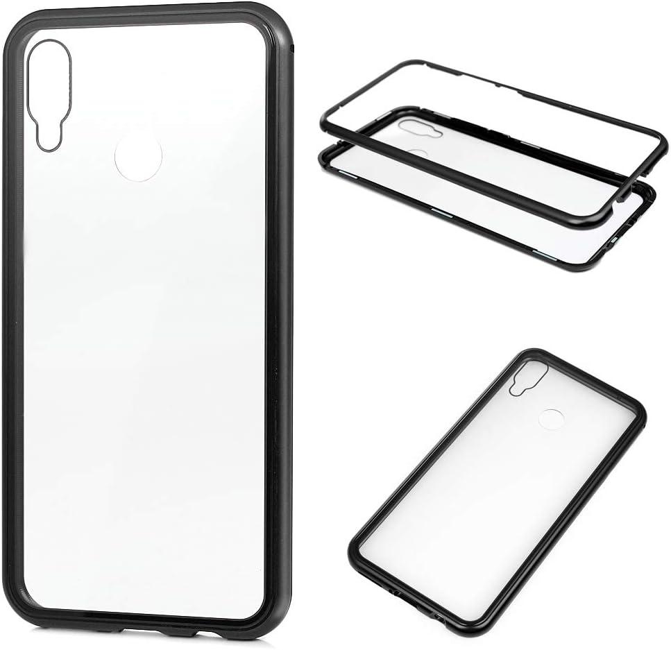 Funda Huawei P Smart Plus Trasparente, Carcasa Vidrio Templado Metal magnético Ultra fino Absorción magnética Cover Crystal Clear Case para Huawei P Smart Plus Negro: Amazon.es: Bricolaje y herramientas