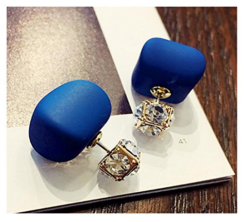 [Luck Wang Unique Passion Woman Chocolate Pearl Crystal Fashion Earrings Temperament Long] (Quick Halloween Costume Ideas For Boys)