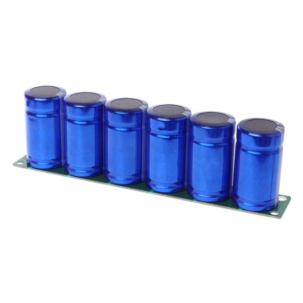 Bogji Lot de 6 condensateurs Farad 2,7 V 500 F avec Platine de Protection