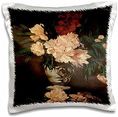Amazon.com: 3d Rose peonías por Edouard Manet Bodegón de ...