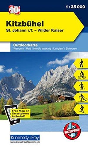 Kitzbühel St. Johann I. T. Wilder Kaiser  Nr. 10 Outdoorkarte Österreich 1 35 000 Freemap On Smartphone Included  Kümmerly+Frey Outdoorkarten Italien
