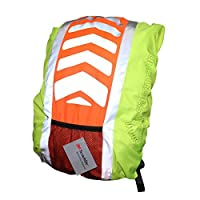 Salzmann 3M Scotchlite Reflective Backpack Cover, Rucksack Cover, Waterproof, Rainproof, for Standard size cyclist's Backpack