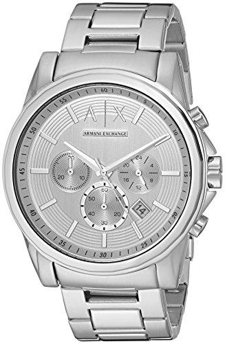 Armani Exchange Men's AX2058  Silver  - Silver Armani