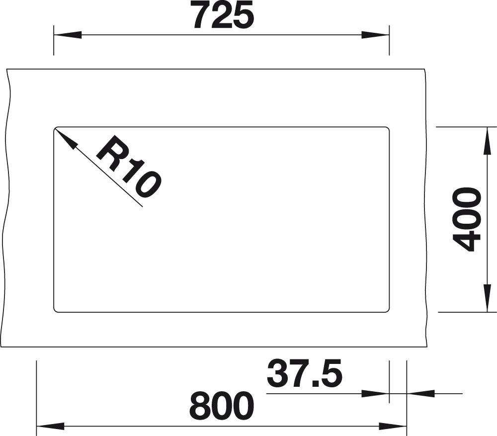 Blanco subline 350//350/de U 523/583/fregadero de cocina Cafe