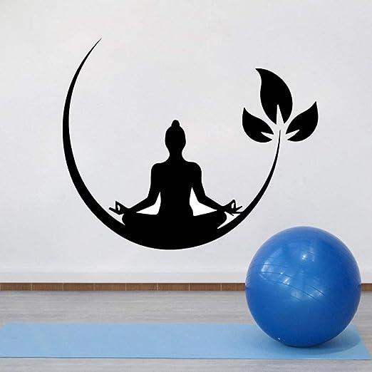 wangpdp Yoga Meditación Vinilo Pegatinas de Pared Zen ...