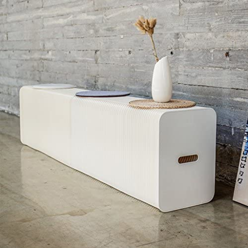 5000Kg DZ-Schemel Wei/ßer Klapphocker Faltbares Sofa Papiertische Und St/ühle Nordic-Fashion-Design F/ür Zuhause Freizeitwohnzimmer Studie Kreative M/öbel Orgel Belastbarkeit