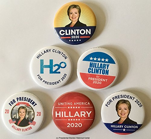 Hillary Clinton for President 2020 Set of 6 Campaign Buttons (HCLINTON-801-ALL)
