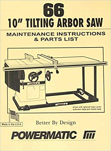 Powermatic model 66 table saw instructions and parts manual misc powermatic model 66 table saw instructions and parts manual misc amazon books keyboard keysfo Images