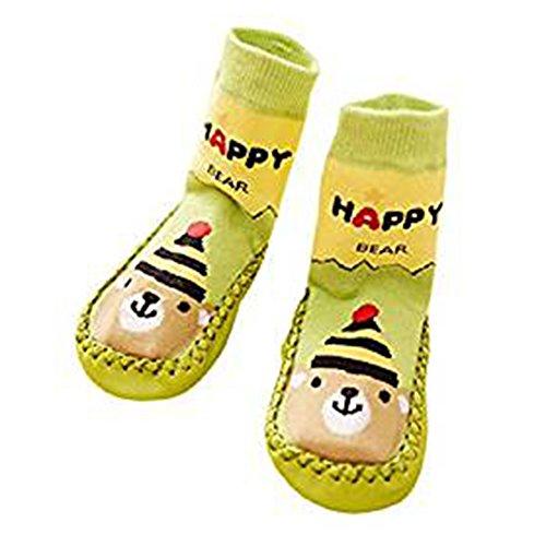 Automne Hiver Chaussettes Garçon Fille Pour dérapant Bébé Et Chaussures Motif Mignonnes Socks Coton Enfant Anti Chaud Vert Juqilu zwSxBqB