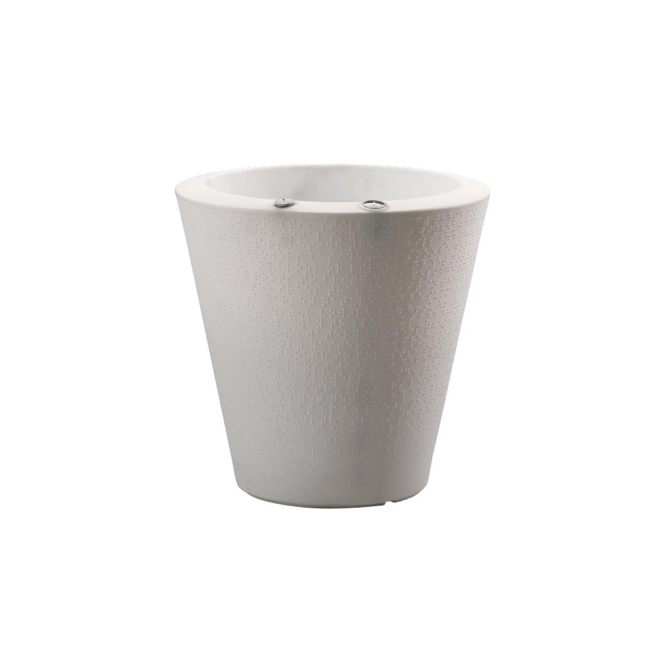 Crescent Garden Indoor/Outdoor Self-Watering Container, Alpine White, 16 in.