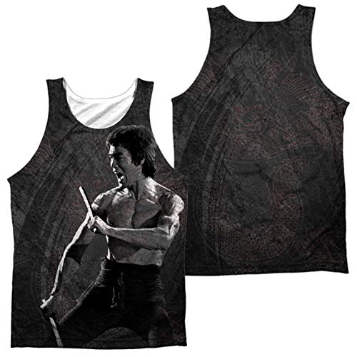 - Tank Top: Bruce Lee- Dragon Print (Front/Back) Size XL