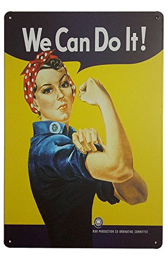 Pin-up Girl We Can Do It Retro Vintage Tin Signs 12