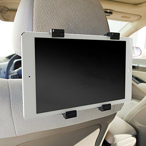 Color Dreams® Universal Tablet Auto/KFZ Halterung für die Kopfstütze, Universal KFZ Auto Halterung Halter, Drehung um 360 °, verstellbar verschiedenen Größen, Es ermöglicht eine sichere und einfache Montage auf jede Kopfstütze für iPad 2/3/4/ , Ipad Air, Ipad Mini, Galaxy Tab/Tab S/Note Pro, Nexus 7, Kindle Fire HD 6/7 Fire HDX 7/8.9 Fire 2 und Tablet-PCs bis zu 10,1