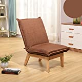KSUNGB Lounger Sofa Individual Bedroom Foldable Lounge chair Dorm room Bed Backrest Chair Small sofa, brown