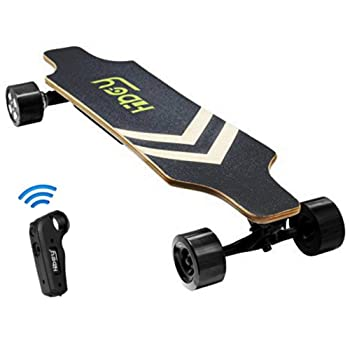 Fitnessclub Hiboy Electric Longboard – Dual Motorized Electric Skateboard with Wireless Remote Control,Max Speed up to 18.5MPH