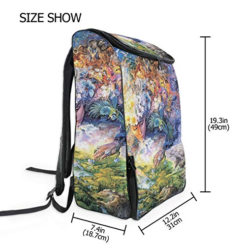 Large Sports Backpack Laptop Backpack Breath of Gaia Mother Earth Greek Travel Computer Bag with Shoe Compartment Colleage School Backpacks for Women Men Students Fits to 15 inch Laptop