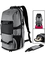 BTOOP Travel Backpack with USB Charging Port for 17.3 Inch Laptop Business Travel Duffel Backpack with Shoes Compartment...