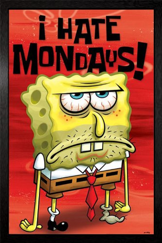 Spongebob   I Hate Mondays Framed Poster   94 5X64cm