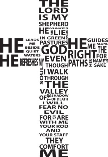 Bible Verse Wall Decal The Lord Is My Shepherd Religious