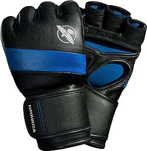 Hayabusa T3 MMA Boxing Gloves, 4oz (Small, Black/Blue)