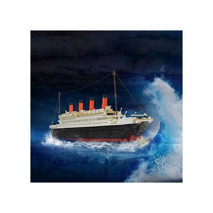 51TKirK yNL Kit de bloques de construcción Titanic, contiene 1021 bloques de piezas. Enorme conjunto! Construye un proyecto espectacular en casa, compatible con las principales marcas. La instrucción detallada del color, tiene un tiempo buidling feliz.
