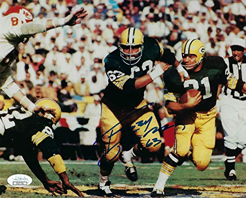 (Packers Fuzzy Thurston Autographed Signed Memorabilia 8x10 Photograph Autographed Signed Memorabilia Jim Taylor Sb I JSA)