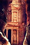 Petra, Jordan - The Treasury (Al-Khazneh) - Archaeological Site (24x36 SIGNED Print Master Giclee Print w/ Certificate of Authenticity - Wall Decor Travel Poster)
