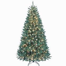 Kurt Adler Pre-Lit Point Pine Tree, 7-Feet