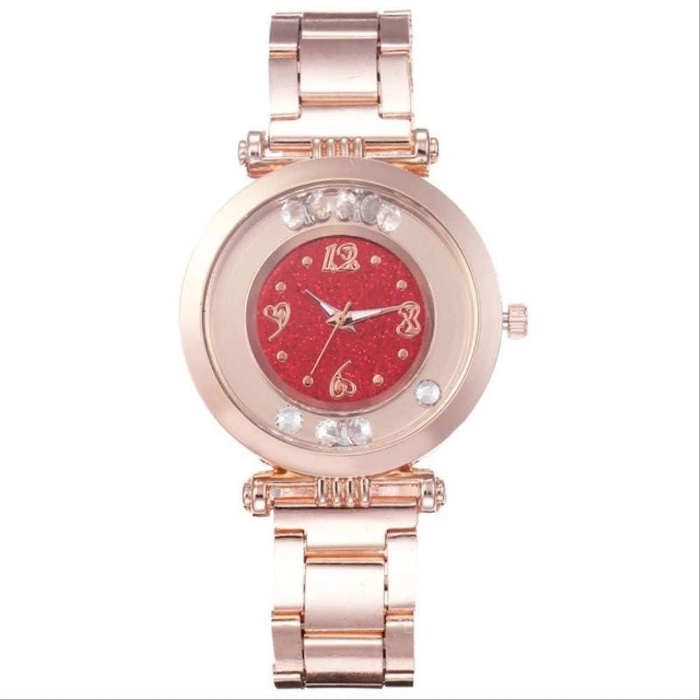 WLKVUOT Relojes De Cuarzo para Mujer Reloj De Diamantes De Moda Reloj De Pulsera De Cuarzo De Acero Inoxidable Señoras Negocios Elegantes