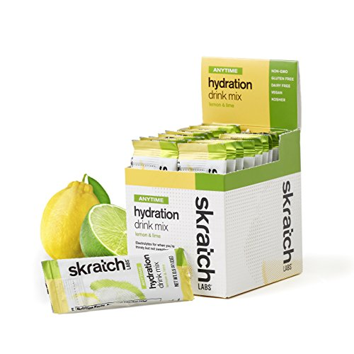 Skratch Labs: New Anytime Hydration Drink Mix, Lemon and Lime, 20-Pack Single Serving Box (Formerly Daily Electrolyte Mix) by Skratch Labs